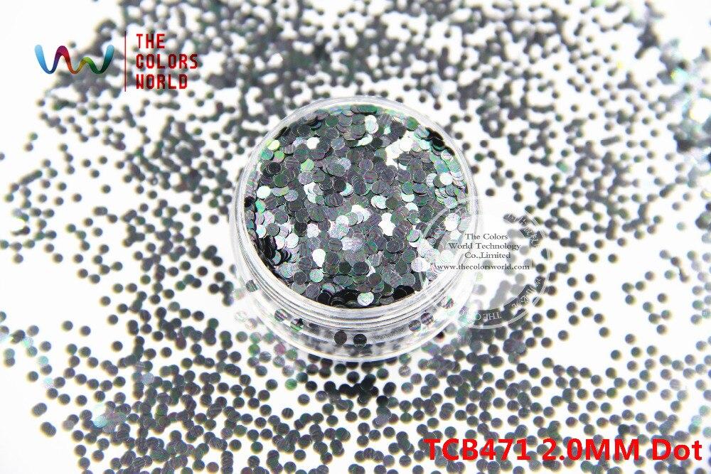 NºTCB471 forma redonda punto patrón de colores 2.0mm tamaño Glitter ...