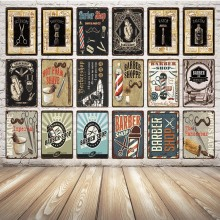 [ Kelly66 ] Classic Barber Shop Metal Sign Tin Poster Home Decor Pub Wall Painting 20*30 CM Size Dy28(China)