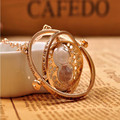 Gold plated time turner necklace hourglass vintage pendant Hermione Granger for women lady girl wholesale 0131
