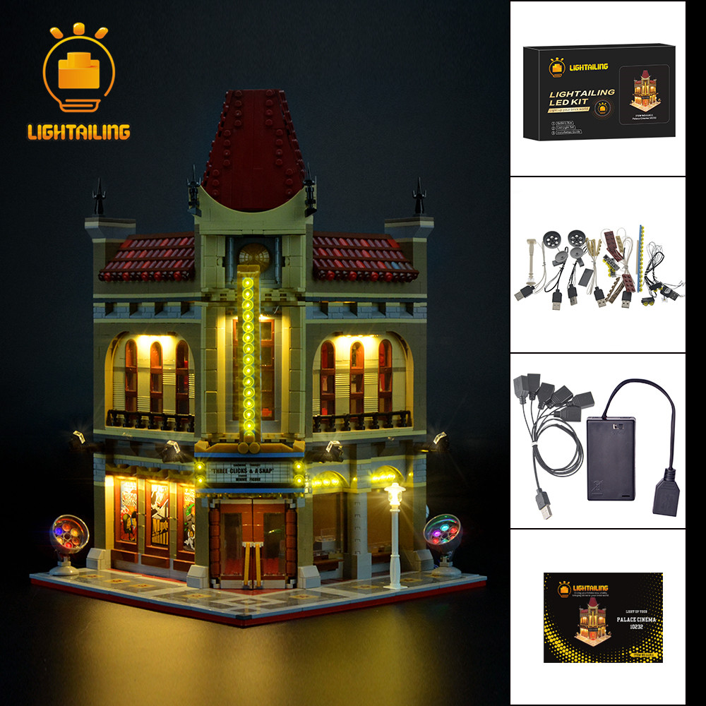 LIGHTAILING Led Light Up Kit For Creator Palace Cinema Light Set Compatible With 10232 NOT Include
