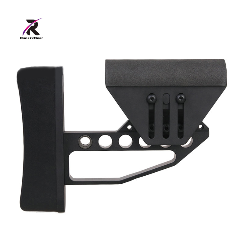 2017 Hot Sale CNC MADE TB Style Stock Hunting Accessories Support M4 Glr Fit For Tactical Skirmish Airsoft BK/SV Free Shipping hot sale board game never have i ever new hot anti human card in stock 550pcs humanites for against sealed ship free shipping