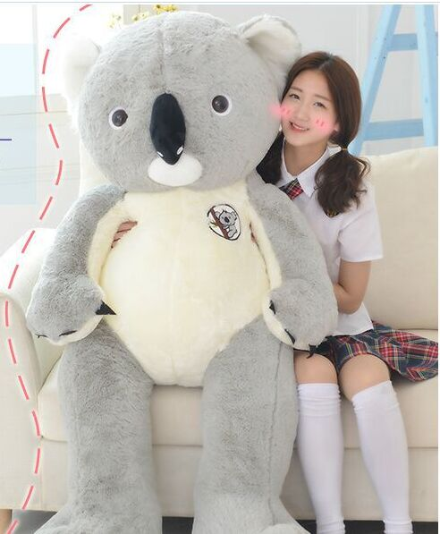 huge creative plush koala toy lovely big high quality koala doll gift about 140cm the huge lovely hippo toy plush doll cartoon hippo doll gift toy about 160cm pink