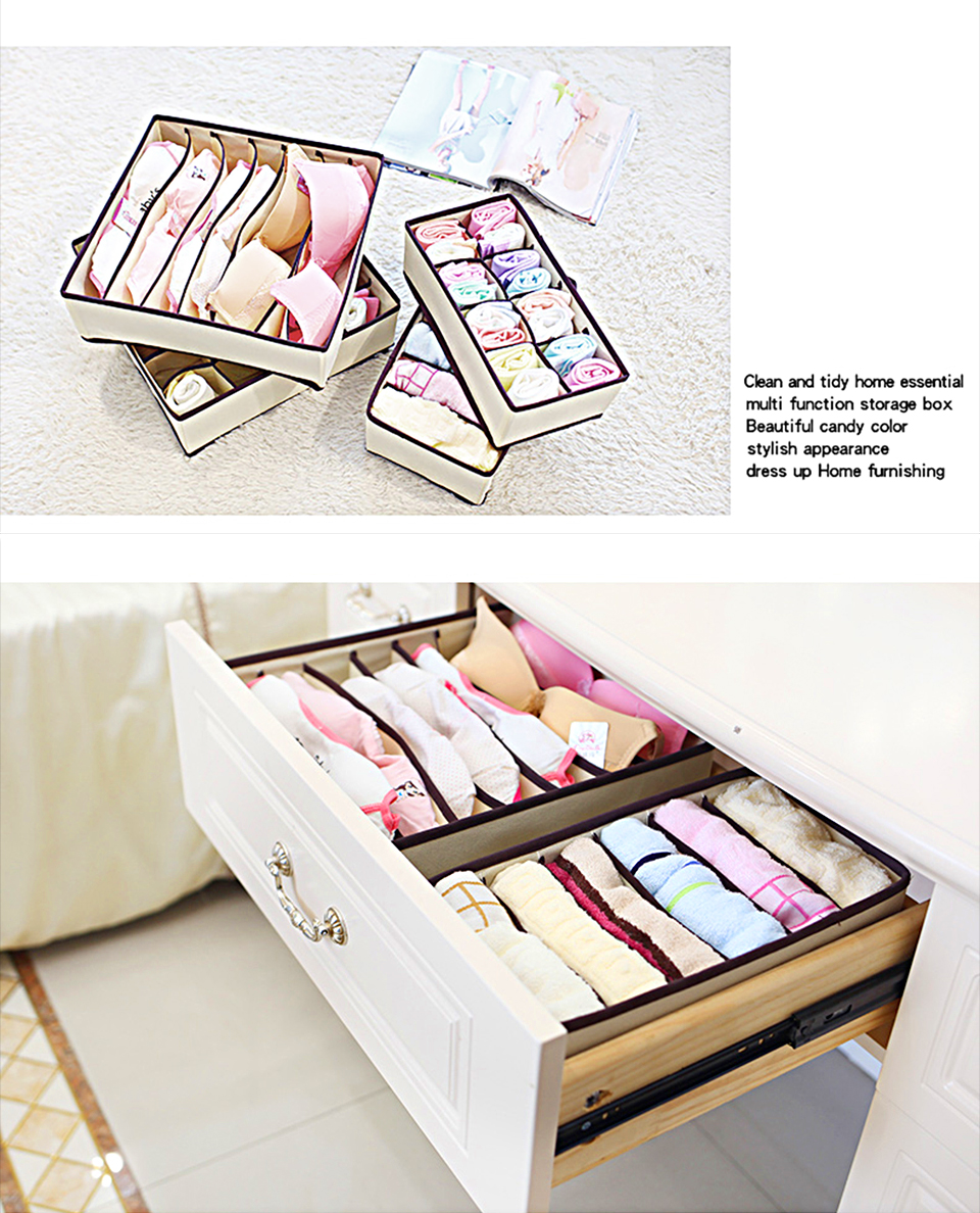 Foldable Organizer For Underwear Socks Bra Drawer Organizers Closet Underwear Organizer Drawer Divider Storage Box 12-1_09