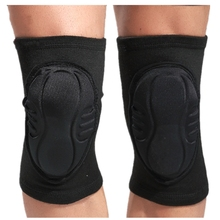 купить 1 Pair Dance Knee Pads Thick Sponge Crashproof Kneepads Sports Knee Protector Brace Support for Special Street Dance Jazz Guard по цене 593.32 рублей