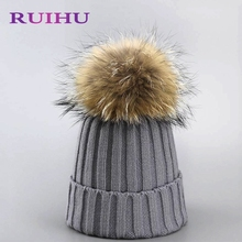 Wool Knitted Hat  for Women