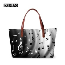 ZRENTAO women handbags musical note ladies casual hand bags for shopping  female large capacity single shoulder f03942966d3cf