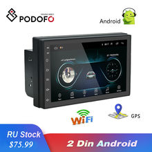 Podofo 2 DIN 7 Inci Android Mobil Radio GPS WIFI Multimedia Player Menyentuh Layar Bluetooth FM Auto Audio Stereo Mirrorlink(China)