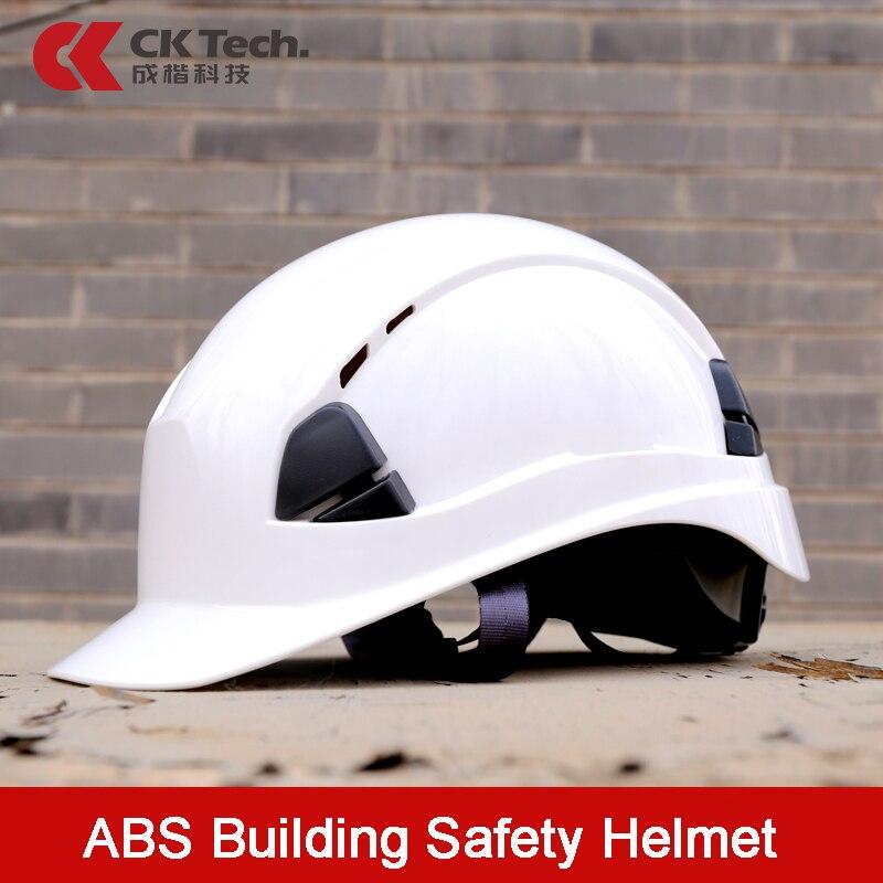 CK Tech.ABS Safety Helmet Construction Climbing Work Protective Helmet Hard Hat Cap Outdoor Breathable Engineering Rescue Helmet