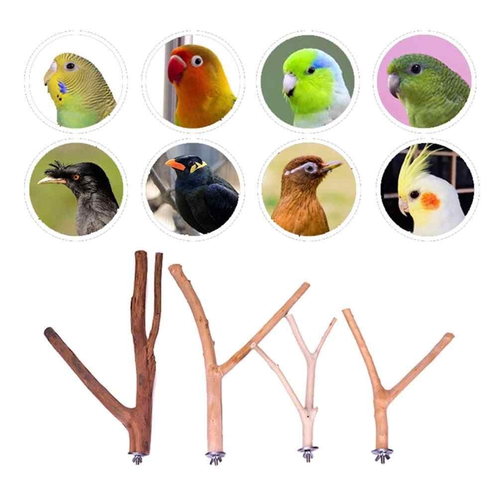 ペットオウム鳥立ちコショウ木材鳥かごポールスティック鳥パーチ咬傷爪研削のおもちゃの鳥籠アクセサリー
