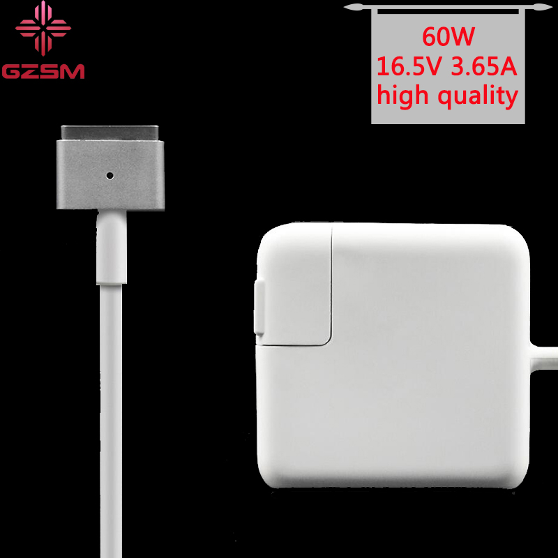 """GZSM Macsafe2 60W 16.5V 3.65A T Tip Laptop Power Adapter Charger For Apple Macbook Pro 13"""" A1435 A1465 A1425 A1502 Adapter"""