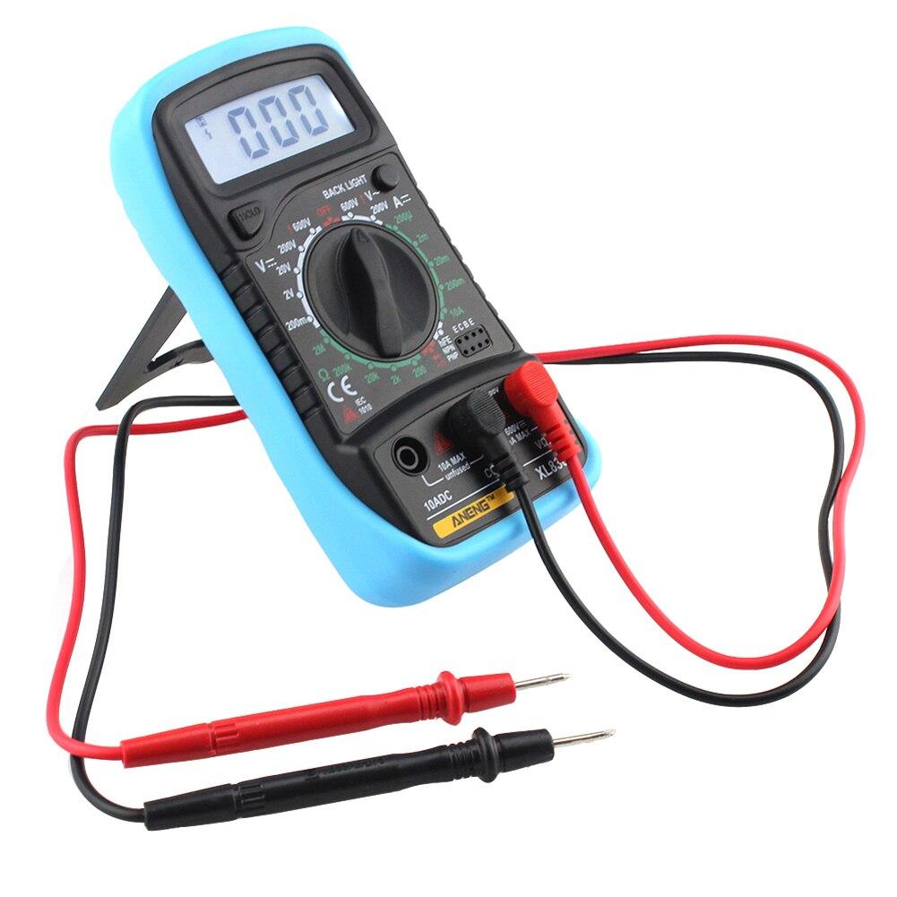 XL830L Digital Multimeter Voltmeter Ammeter AC DC OHM Volt Tester LCD Test Current Multimeter Overload Protection
