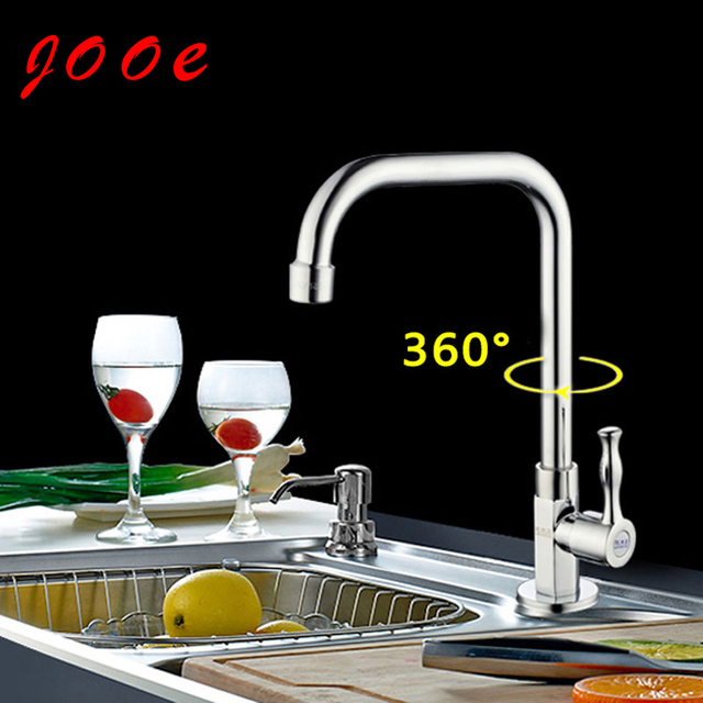 Jooe moderno grifo de la cocina de latón cromado único grifo de agua ...