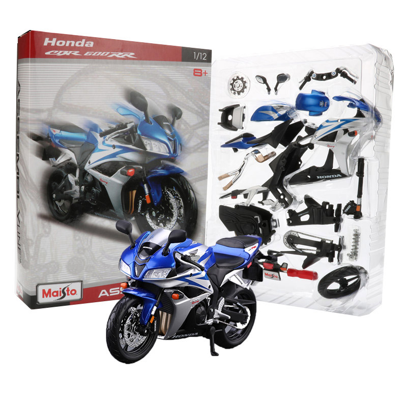 Maisto 1:12 alloy motorbike toy off-road vehicle honda cbr 600rr assembling line model kits building toys for children adult gift