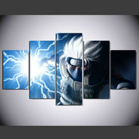 5 Panel Naruto Hatake Kakashi Modern Home Wall Decor Painting Canvas Art HD Print Painting Canvas Wall Picture For Home Decor