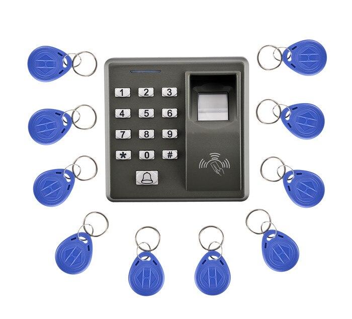 M10 Fingerprint 10 Pcs KeyCard+500 Users Fingerprint Access Control Standalone Single Door Controller Cheapest Standalone Keypad standalone biometric fingerprint door access control system with keypad metal fingerprint access controller