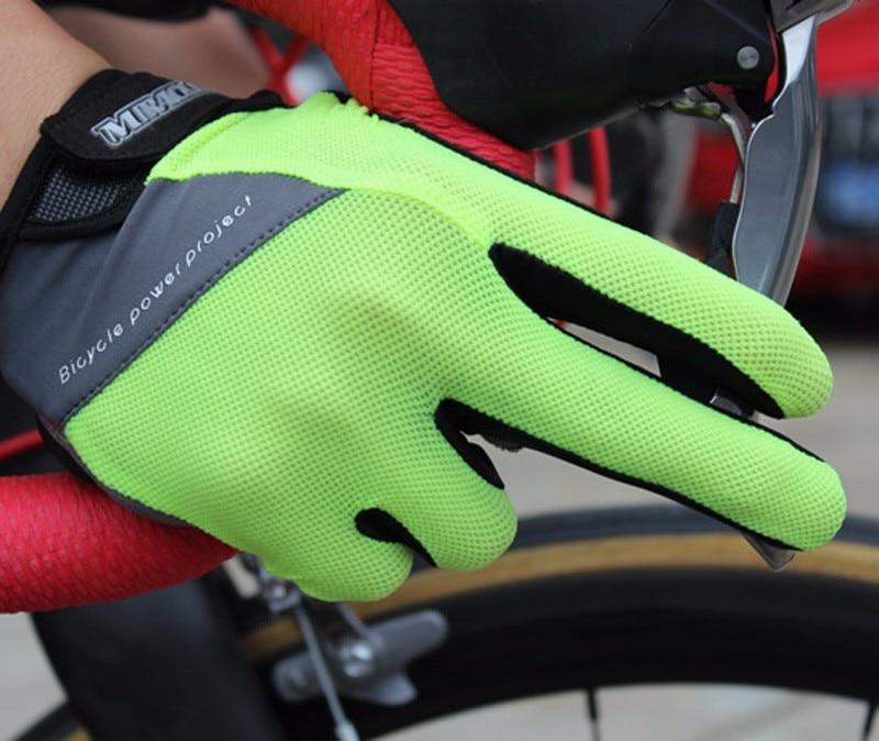 Prix pour Miracle Vélos 2017 Tactile Écran Non-Slip Respirant Bicicleta Gants Vélo Gants Plein Doigt Ciclismo luvas Gants