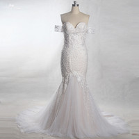 RSW1372 Yiaibridal Lace Mermaid Wedding Dresses Off Shoulder Wedding Dress
