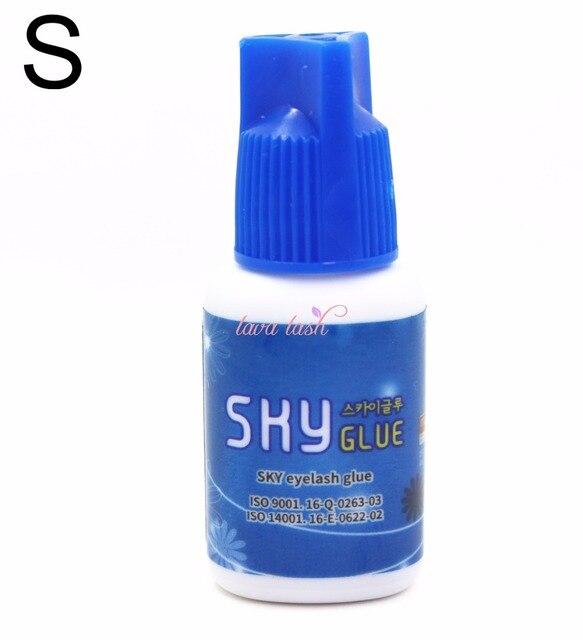 Livraison gratuite 1 bouteille originale corée ciel colle S Type bouchon bleu pour Extensions de cils MSDS adhésif cils S type, 5 ml