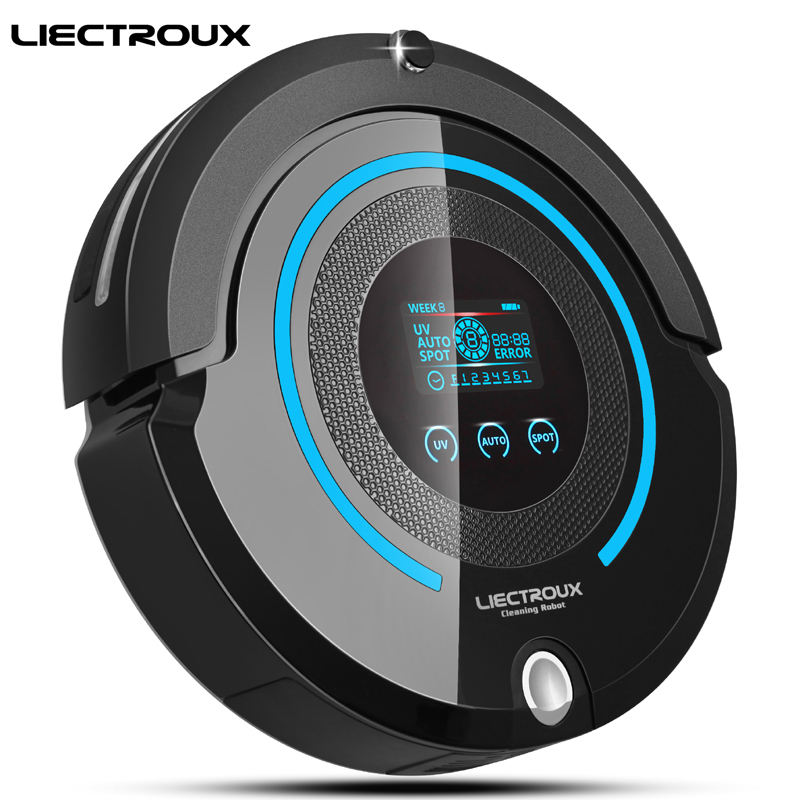 (Ship from US,Russia)LIECTROUX A338 Multifunction Robot Vacuum Cleaner (Sweep,Vacuum,Mop,Sterilize),LCD,Schedule,Virtual Blocker цена 2017