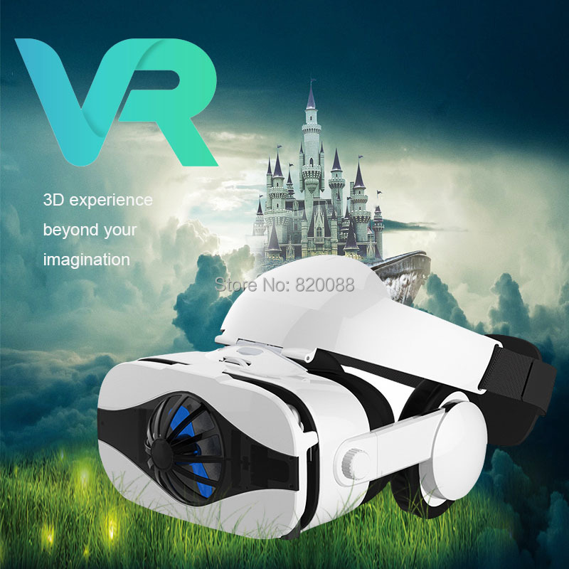 Newest!! Fan Cooling Version Virtual Reality 3D VR Box With Headphone For 4.0-6.33 inch Smartphones, Free Shipping delta 12038 12v cooling fan afb1212ehe afb1212he afb1212hhe afb1212le afb1212she afb1212vhe afb1212me