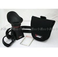 3 3 Inch LCD ViewFinder Loupes Magnifier Viewer Extender Hood 2 8X For Canon 5D MARK