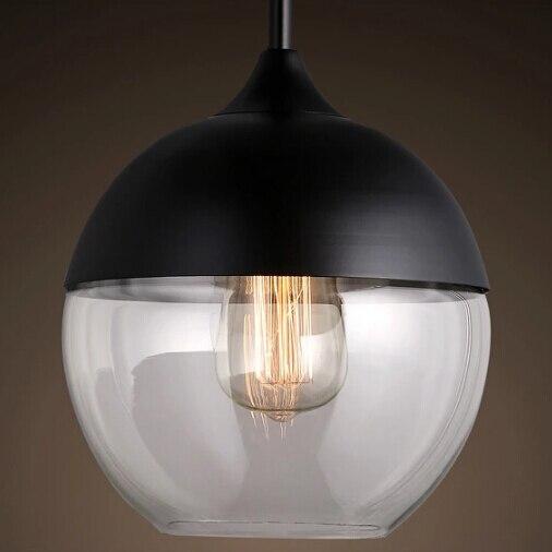 Modern Pendant Lights Glass Lamp Dining Room Lighting Fixture With Edison Bulbs Retro Hanging AC