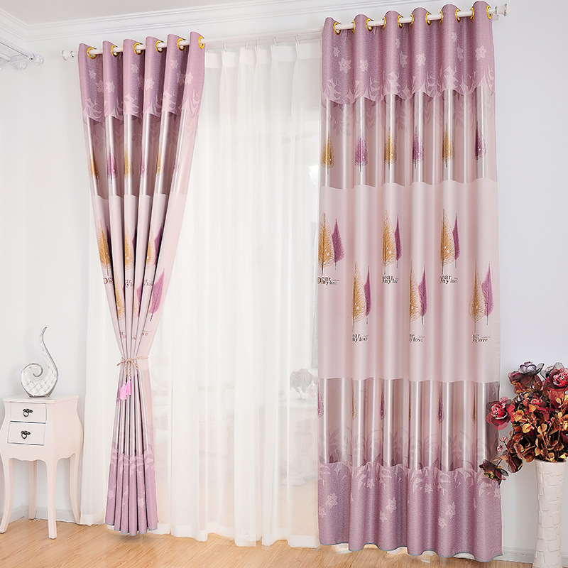 curtain fabric cloth for living room bedroom blackout curtains