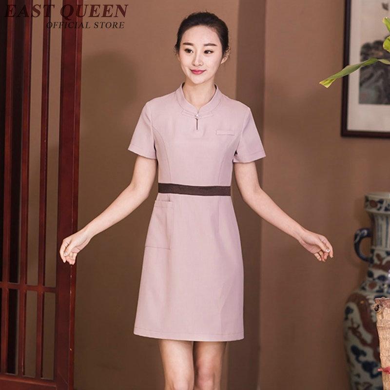 Salon kleid salon zubehör schönheit salon uniformen spa uniform ...