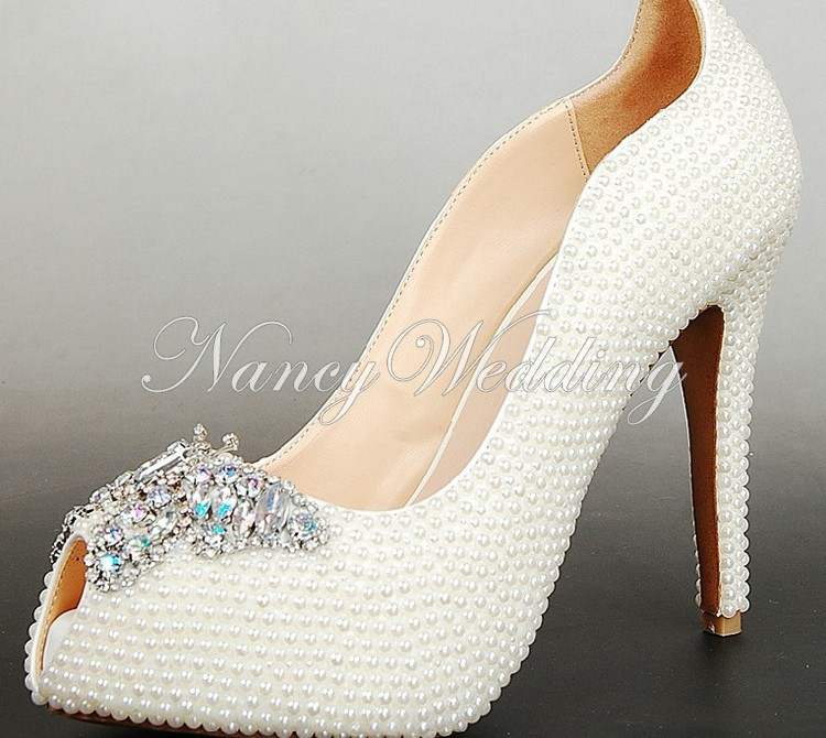 Peep Toe Ivory Shoes 002