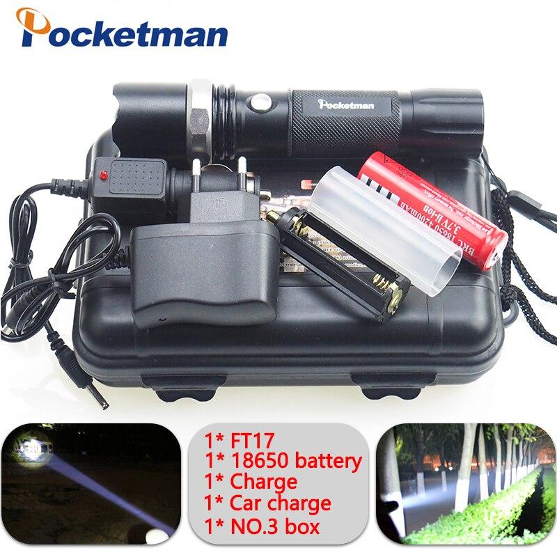4000LM LED Flashligh XM-L T6 linterna led Étanche Zoomables zaklamp Torche 5 modes 18650 Batterie Rechargeable ou AAA zk93