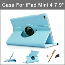 360 Rotating Case for iPad mini 4 Smart Flip Stand A1538 A1550 Shockproof Protective 7.9'' Cover for iPad mini 4 tective shell crystal palace cover for ipad mini 4 case bling protector shell for ipad mini 4 cases 360 degree rotating cover for ipad mini 4