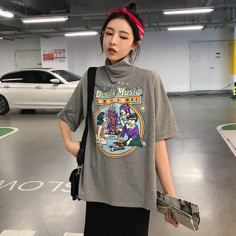 T-shirts Women Summer Letter Printed All-match Student Chic Womens Fashion Harajuku Short Sleeve Breathable Hip Hop Soft T-shirt