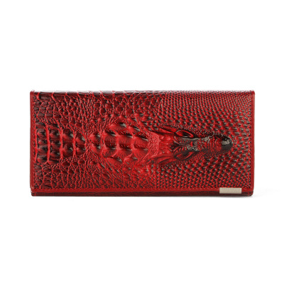 Herald Fashion Women Wallet Crocodile Head PU Leather Wallet Women Purse 3D Long designer Money Clip Carteira Feminina genuine leather women wallets crocodile 3d head fashion clutch purse wallet alligator pattern long wallet women carteira