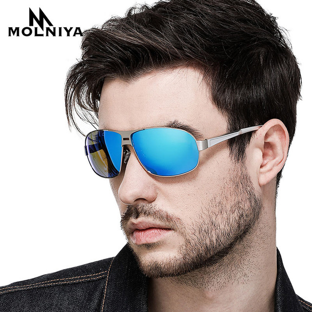 bddc598f978d MOLNIYA Brand Fashion Classic Polarized Sunglasses Men Designer HD Goggle  Integrated Eyewear Smart Discoloration Sun glasses
