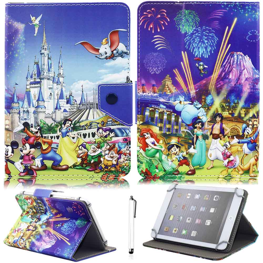 цена на 10 Universal PU Leather Stand Protector Cover Case Skin For 9.7 10.1 10 tablet PC Cute Print Flip Stand Case For tablet PC