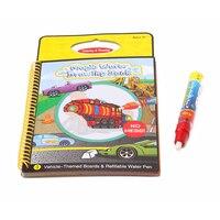 Волшебная детская книга ручка для рисования водой раскраска акварель граффити доска Мультфильм Поезд