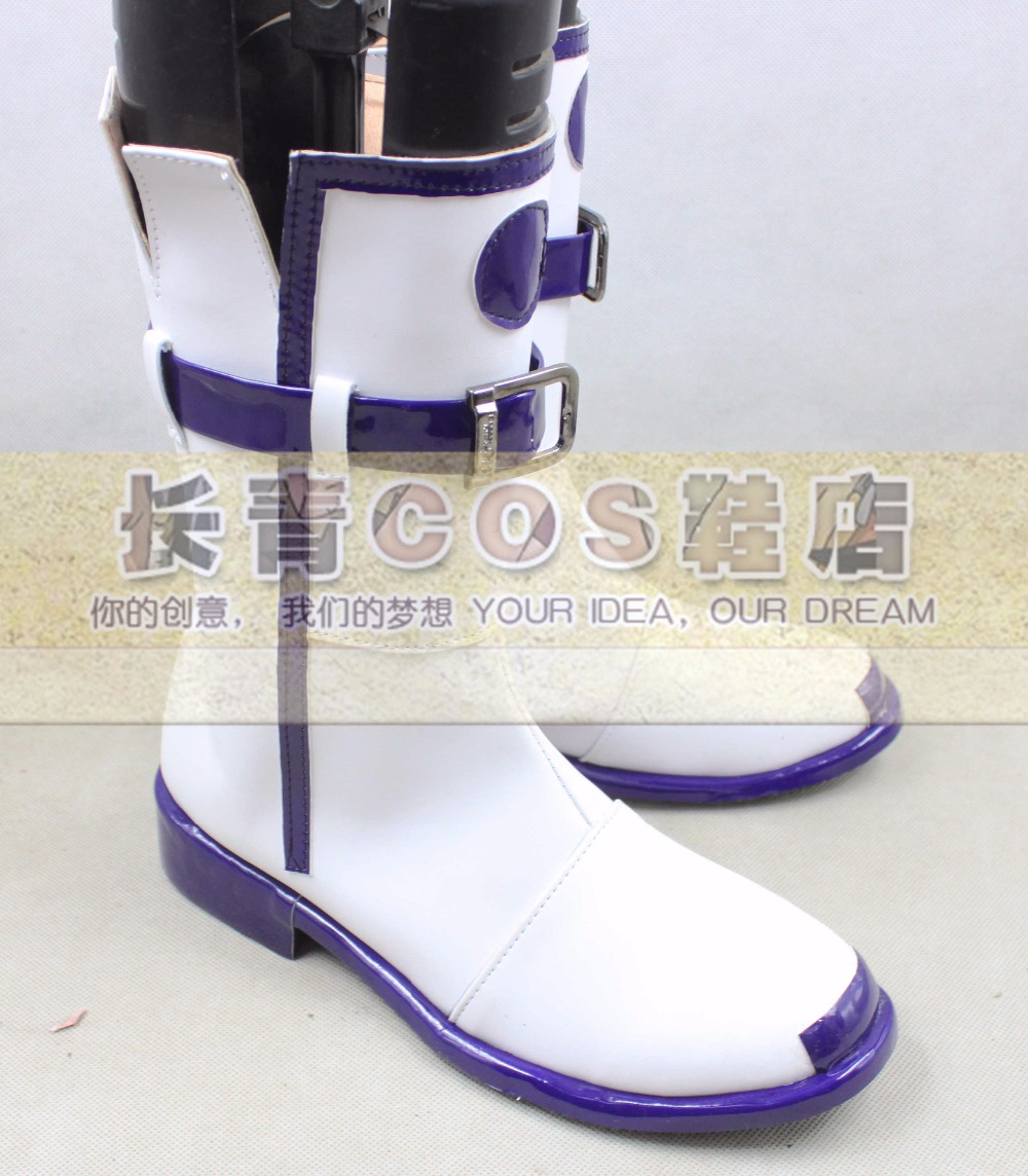 New  VOCALOID3 IA cosplay shoes Boots Custom Made
