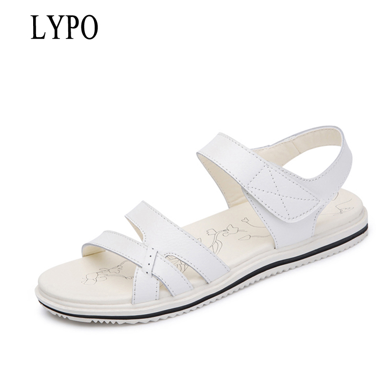 LYPO 2018 Summer Shoes Maternity Sandals Women Mother Shoes flat soft leather nurse shoes casual women sandals summer mother shoes woman genuine leather soft outsole open toe sandals casual flat women shoes 2018 new fashion women sandals