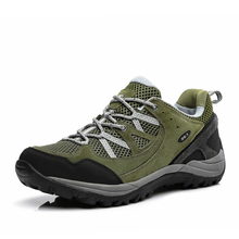 New Women hiking shoes Summer Leather mesh outdoor sneakers Super breathable climbing trekking shoes zapatillas deportivas mujer