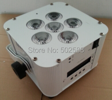 wholesale 6*6in1 rgbaw+uv ir remote control battery operated wireless dmx led up lights 8pcs/Lot