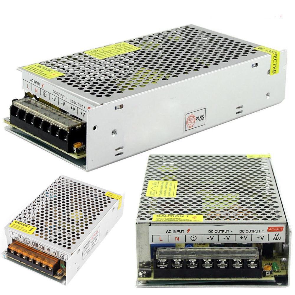 LED Power Supply Transformer AC 110V-220V TO DC 12V 24V 5A 10A 15A Switch Power Supply Driver Adapter for LED Strip Light стоимость