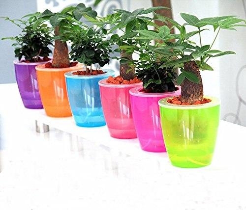 Mkono 3pcs self watering pot automatic planter plant flower pots for mkono 3pcs self watering pot automatic planter plant flower pots for garden office home decoration table workwithnaturefo