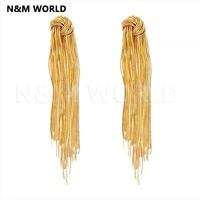 2019 Fashion Jewelry Golden Tassel Long Dangle Earrings Jewelry For Women Jewelry Dangle Earring Tassel Earrings