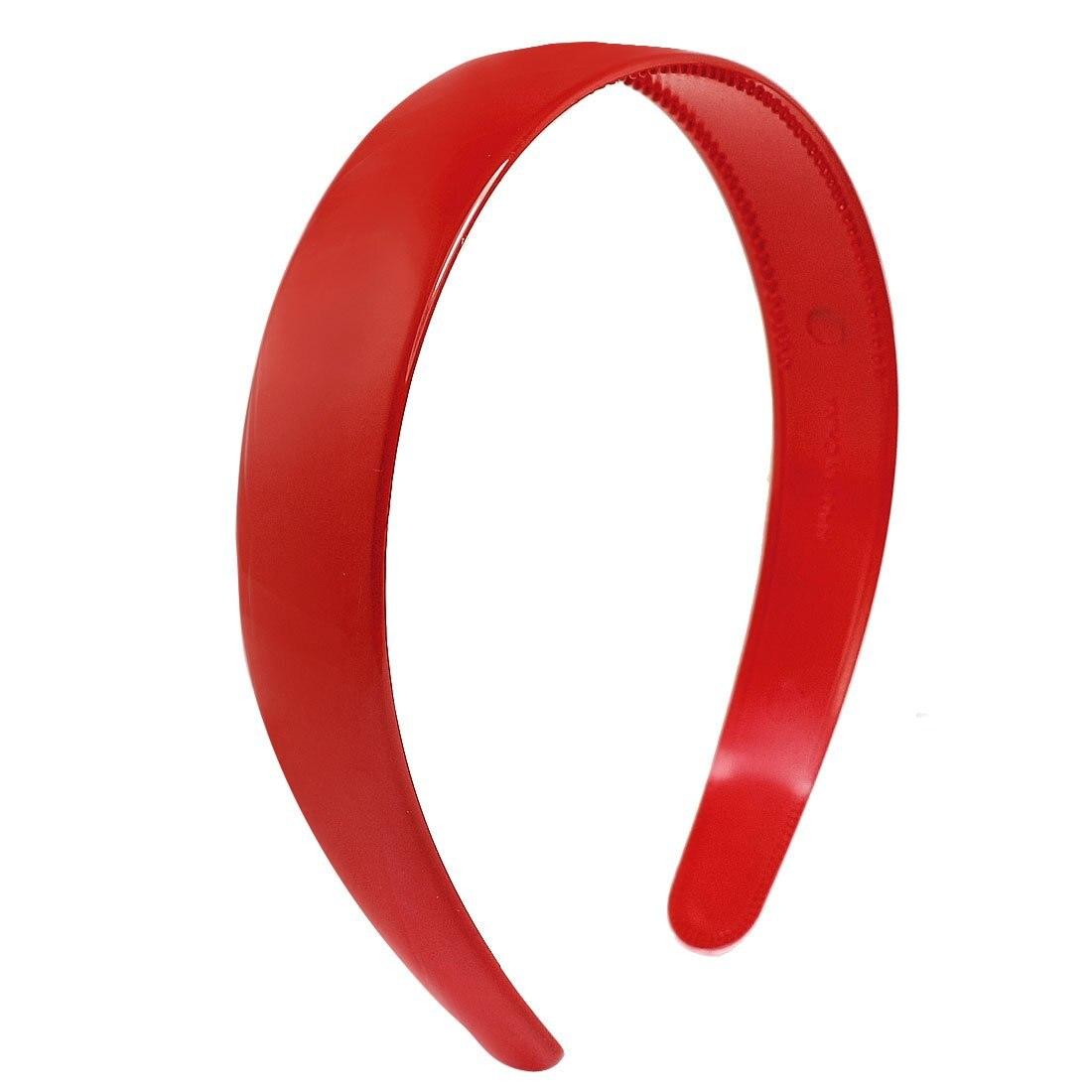 Ladies Red Plastic Teeth Hair Hoop Headband Ornament Free