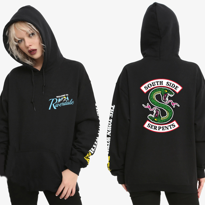 Riverdale South Side Schlangen Hoodie Sweatshirts SouthSide Lustige Karikaturdruck Frauen/Männer Mit Kapuze PulloverTracksuit weibliche