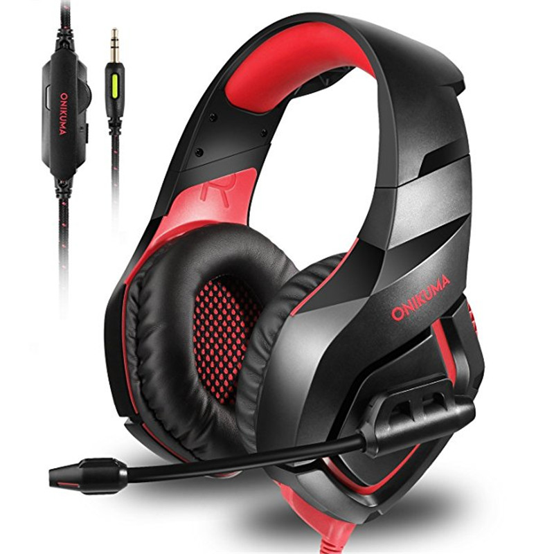 ONIKUMA Stereo Gaming Headset Game Headphones PS4 PC Xbox One Noise Cancelling Earphones with Mic for Computer Laptop Phone oneodio stereo gaming headset for phone pc computer headphones with mic over ear noise cancelling for pc ps4 xbox mobile