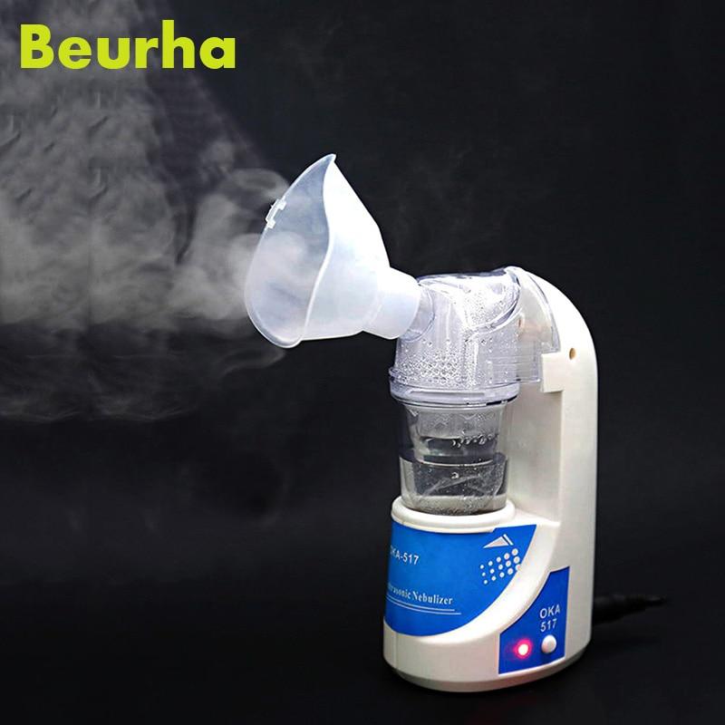 Beurha Medical Nebulizer Mini Automizer Children Care Inhale Nebulizer Home Ultrasonic Nebulizer Health Care drop shipping home health care portable automizer ultrasonic nebulizer