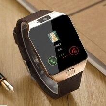 DZ09 Смарт часы с sim-картой слот Push сообщение Bluetooth подключение Android телефон лучше, чем умные часы мужские часы