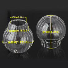OlingArt 3pcs/lot 30mm Pumpkin ball Glass Pendant glass Vintage Mini Wish bottle DIY Mobile phone Necklace making Jewelry Women