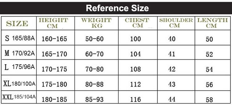size chart 208